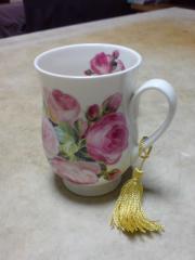 薔薇のマグカップ