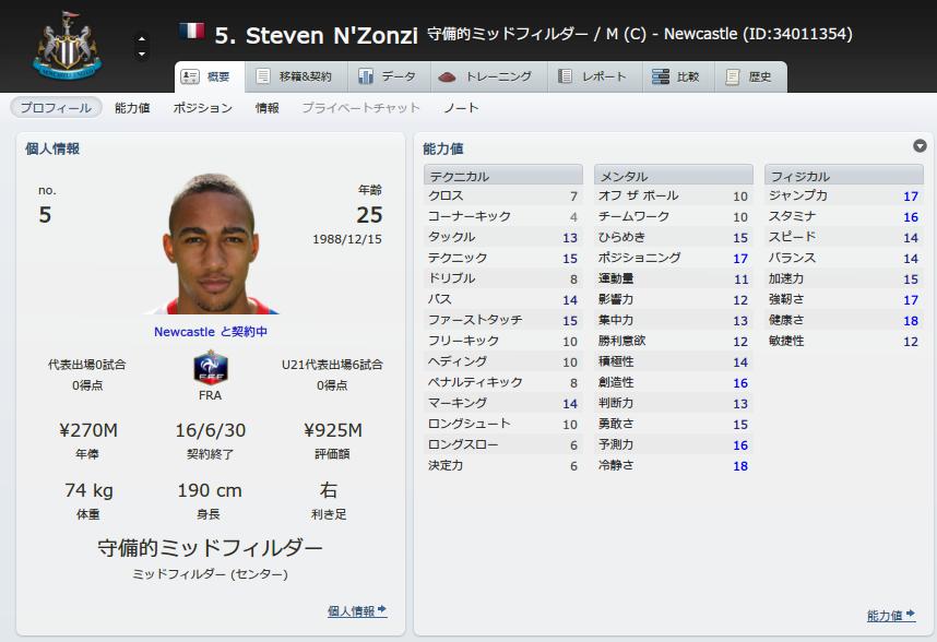 Steven NZonzi (概要_ プロフィール)
