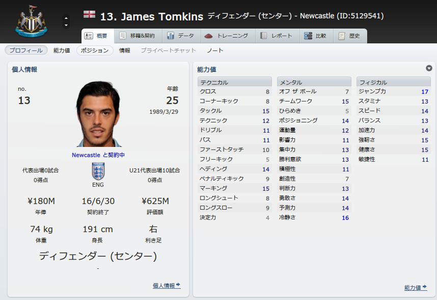 James Tomkins (概要_ プロフィール)
