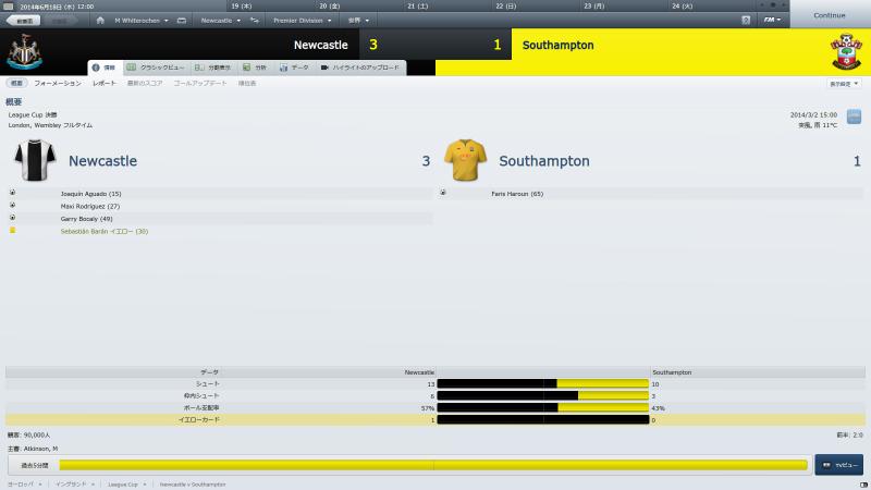 Newcastle v Southampton (情報_ 概要)