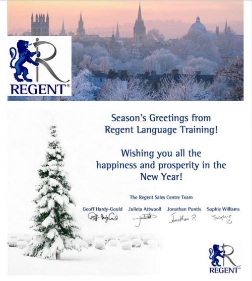 regent christmas card 2014