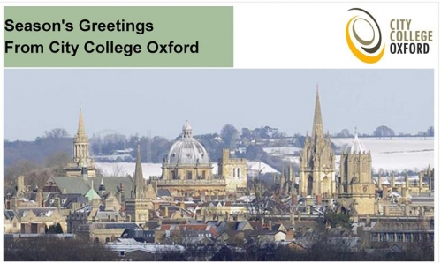 City College Oxford Christmas Card 2014