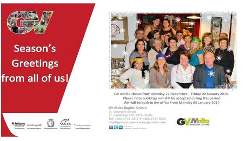 GVM Malta Christmas Card 2014