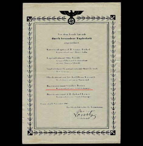 海軍名誉鑑(1943年11月8日付)