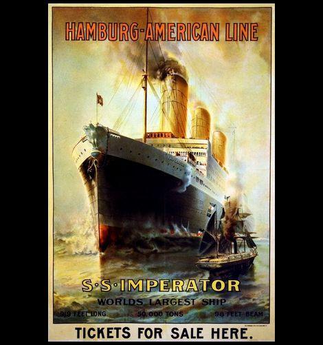 Hamburg American Line_Imperator_poster