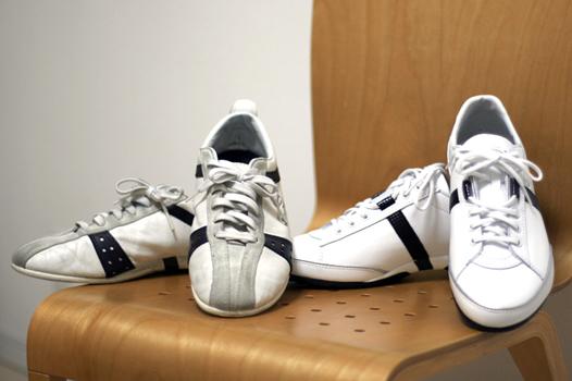 古い靴と新しい靴