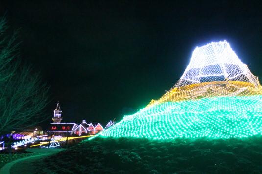 イルミネーション ハイジの村 富士山
