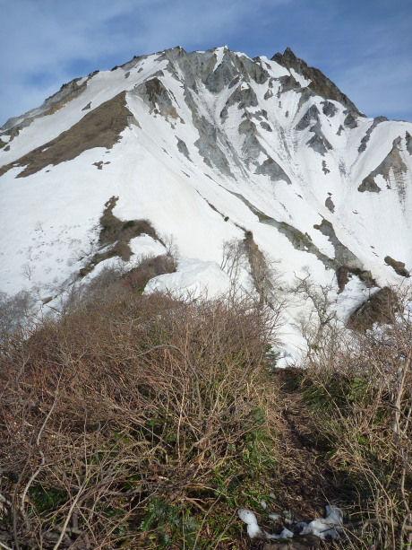 キリン峠から槍尾根への稜線