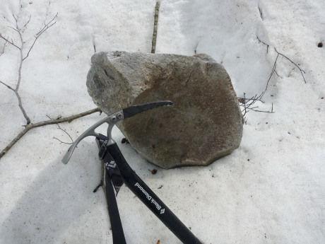 巨大な落石