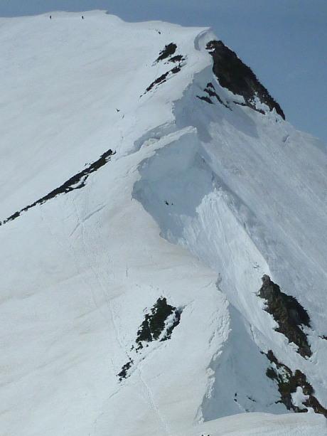 奥大日岳への稜線