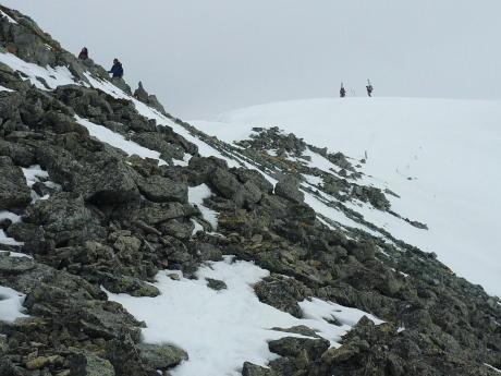 富士ノ折立山頂下