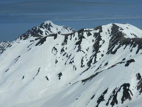 浄土山から別山と剣岳