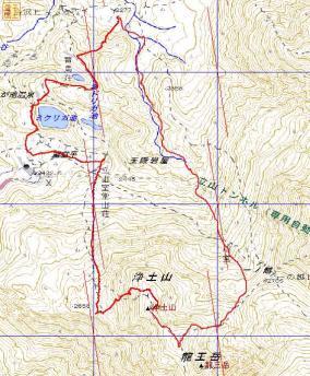 GPSマップ浄土山