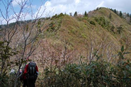 43男鹿岳への尾根