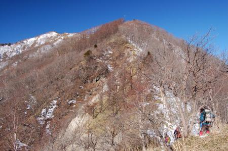 9社山への尾根から