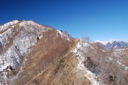 12社山への尾根から