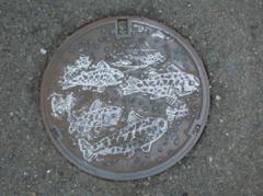 マンホール蓋 魚絵s