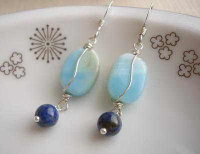 sky and ocean earrings