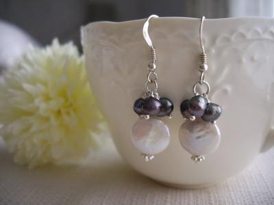 coinpearl earrings