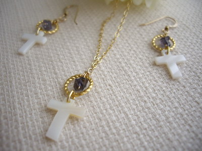 shell cross necklace