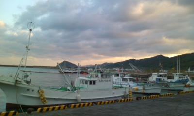 内海港から野島を見る