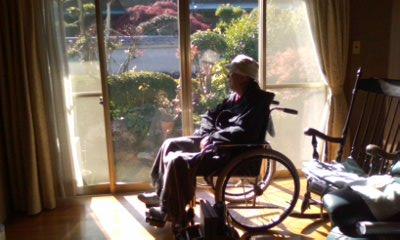 車椅子の父