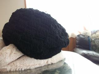 手編みの帽子