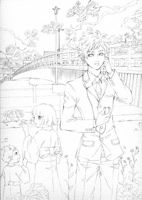 怪奇探偵倶楽部 第2巻 線画