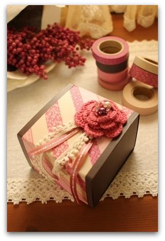 マステ ピンクのリメイクボックス (4)