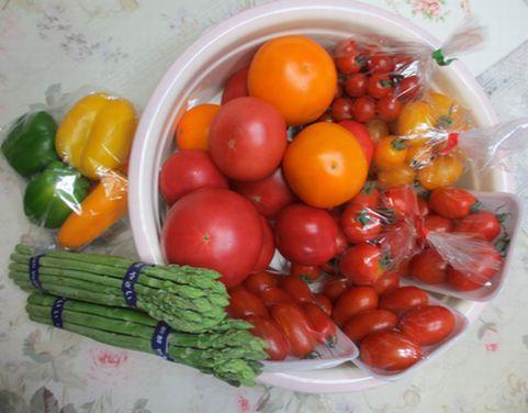 産直「道の駅」の野菜