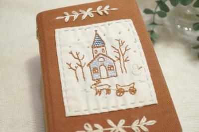 刺繍ブックカバー2