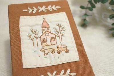 刺繍ブックカバー1