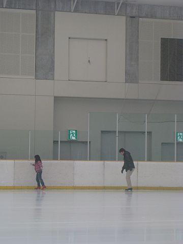 家族でスケート!