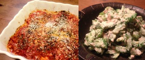 鯖のトマトソース焼き&ゴーヤのサラダ