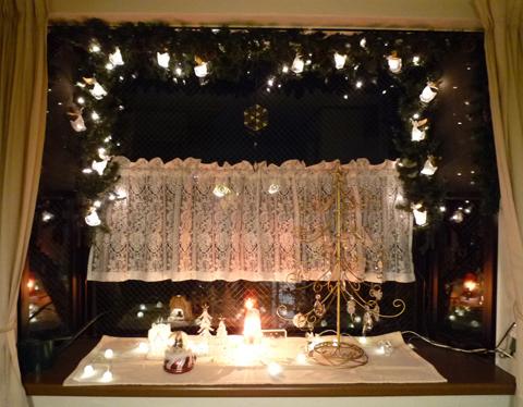 クリスマス出窓
