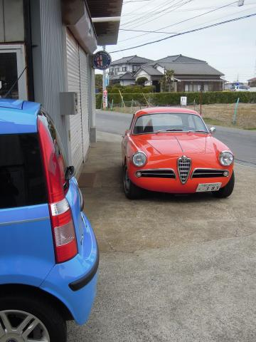 Panda and Giulietta Sprint Veloce