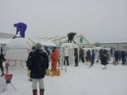 2014スノーフェスティバルin越路 雪像づくり (2)