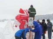 2014スノーフェスティバルin越路 雪像づくり (3)