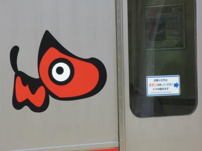 磐越西線の電車のドア