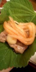 胡麻の葉巻き肉