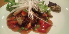 ◆角酢豚 バルサミコ酢の甘酢