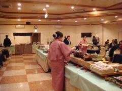 姫の湯 朝食風景