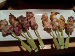 たちばな:比内地鶏のおまかせ串焼