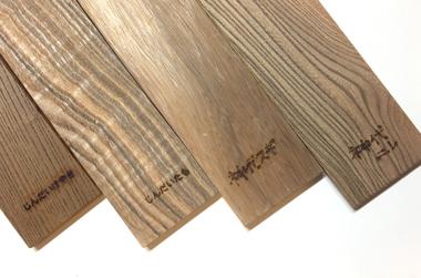木の見本板