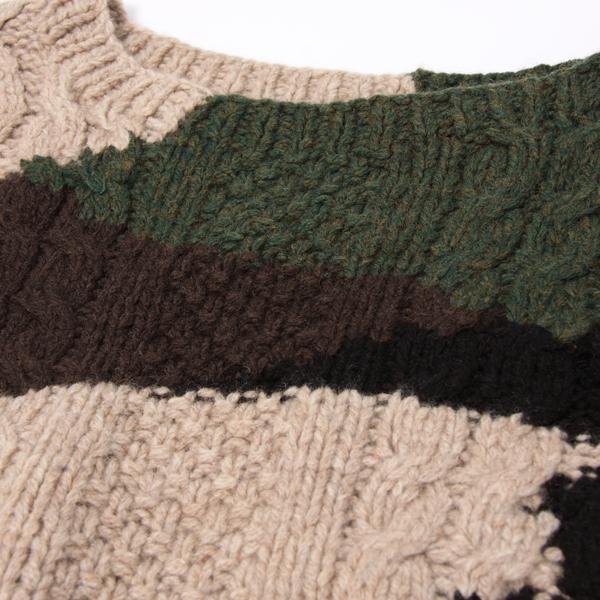 koyuki・コユキの迷彩の7分袖プルオーヴァー