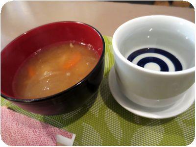 日本酒+サービスお通し(豚汁)