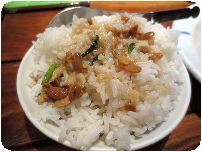 空心菜炒めのタレがけライス