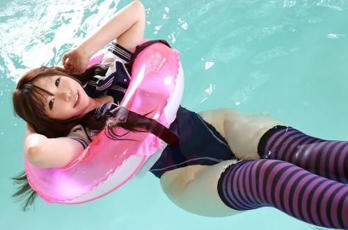 日暮りん コスプレ レイヤー ニーソ セーラー服 競泳水着 エロ画像 30