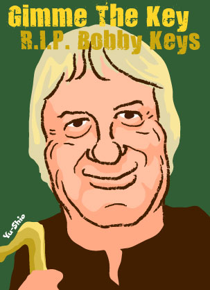 Bobby Keys caricature
