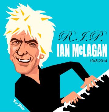 Ian McLagan caricature